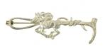 Silver Horse & Crop Brooch