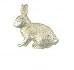 Silver Hare Brooch