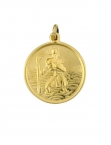 9ct Gold & Silver St.Christophers